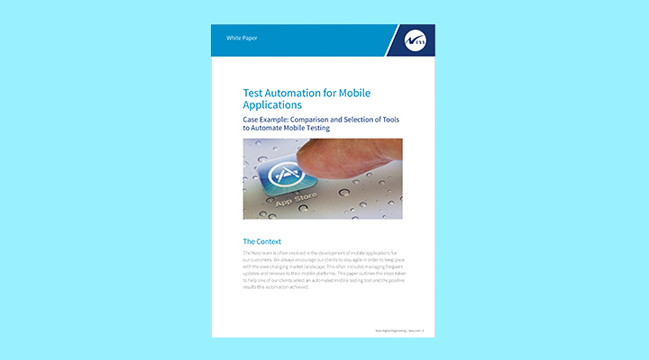 Test Automation for Mobile